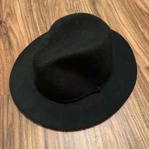 J. Crew Black 100% Wool Hat S/M